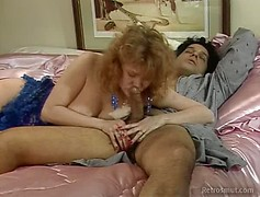 Classic pornstar from the 80s gets hardcore fucked with big hairy cock