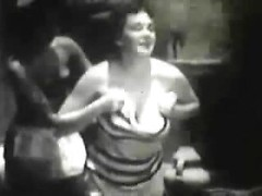 Swimsuit chicks from a vintage movie are happy to flash their sexy tits